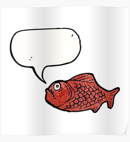 cartoon piranha Poster