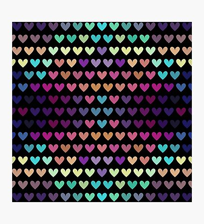 Colorful hearts IV Photographic Print