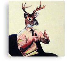 Deer Man, Thumbs Up Canvas Print