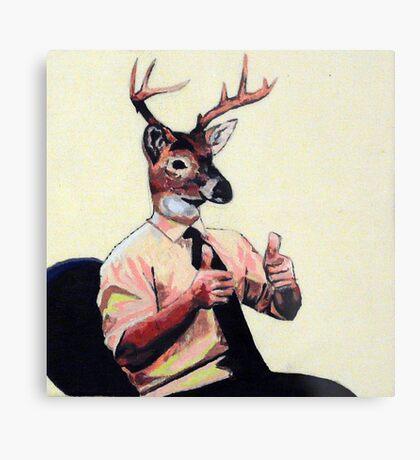 Deer Man, Thumbs Up Metal Print