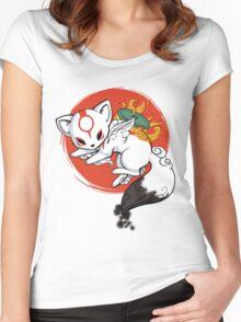 Chibi Okami Women's Fitted Scoop T-Shirt