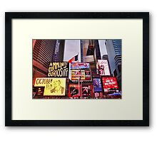 Times Square West H  Framed Print