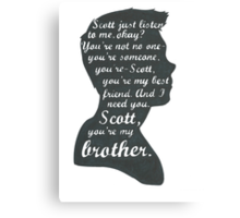 Stiles Quotes- Number One in a Series Canvas Print