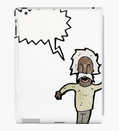 cartoon genius old man iPad Case/Skin