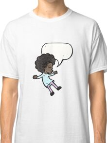 cartoon girl with speech bubble Classic T-Shirt