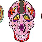 5 Colorful Sugar Skulls by ibadishi