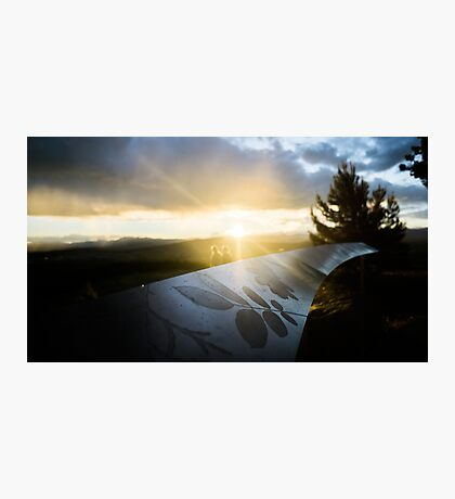 Sunset Over Canberra Mountains Pt.2 Photographic Print