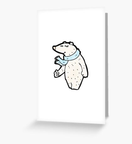 cartoon polar bear Greeting Card