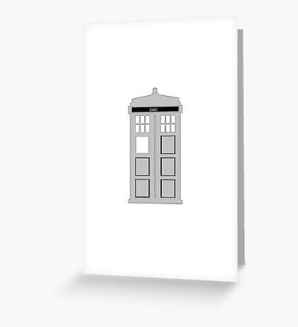 Time Machine, TARDIS DMC Greeting Card