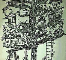 treehouse neighborhood by redblossom