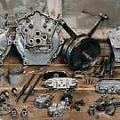 """Brough Superior """"Two of everything"""" Engine by Frank Kletschkus"""