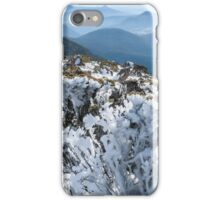 Wind-glued uniform, troops ranked behind     Ice on alpine shrubs iPhone Case/Skin