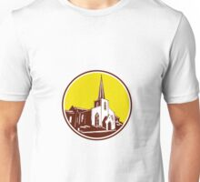 Trinity Parish Episcopal Church Woodcut Retro Unisex T-Shirt