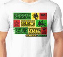 Reggae Selecta Sound System Jamaica Africa Unisex T-Shirt