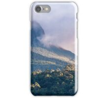 Stern beauty, swathed in wintry scarves  |  The Organ Pipes from Leslie Vale iPhone Case/Skin