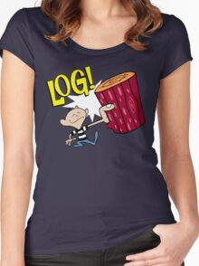 Log 2 Women's Fitted Scoop T-Shirt