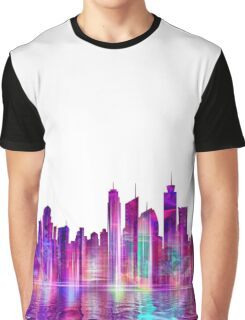 Artistic - XXVI - Abstract Cityscape Graphic T-Shirt