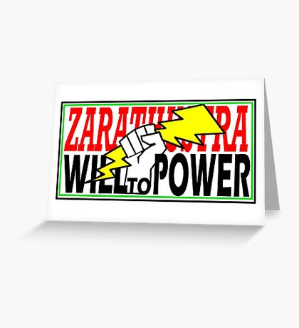 ZARATHUSTRA - WILL TO POWER - NIETZSCHE Greeting Card