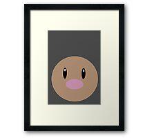 Diglett Ball Framed Print