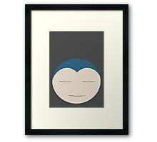Snorlax Ball Framed Print
