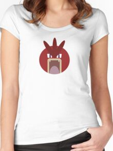 Red Gyarados Ball Women's Fitted Scoop T-Shirt