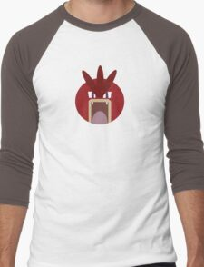 Red Gyarados Ball Men's Baseball ¾ T-Shirt