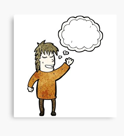 person with thought bubble Canvas Print