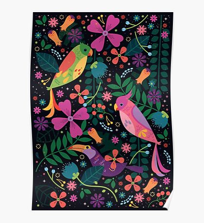 Enchanted Tiki Birds  Poster