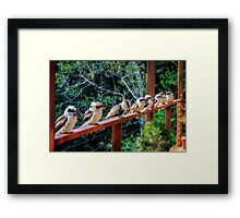 10 in a Row... Framed Print