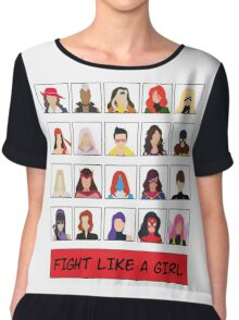 Fight Like A (Marvel) Girl. Chiffon Top