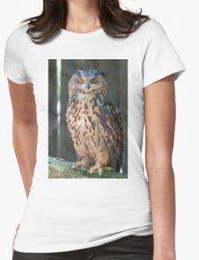 owl in the mountains Womens Fitted T-Shirt