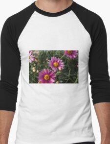 colored daisy in spring Men's Baseball ¾ T-Shirt