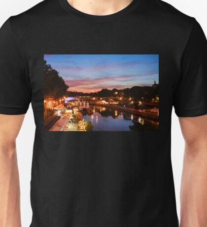 Impressions of Rome - Summertime Festival on the Banks of Tiber River Unisex T-Shirt