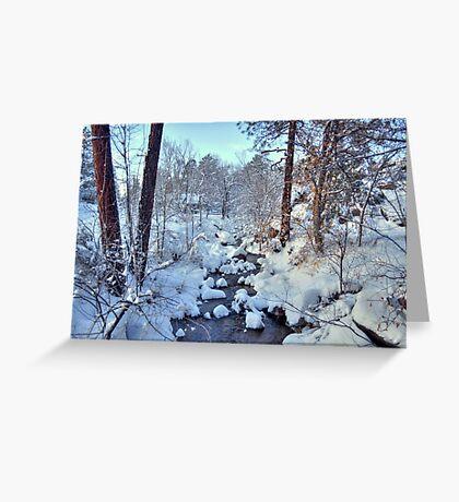 Snowy Stream In Prescott Arizona Greeting Card