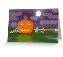Pixel Halloween Greeting Card
