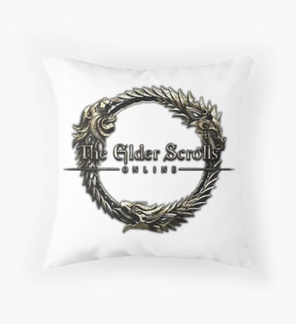Elder Scrolls Online Logo Throw Pillow