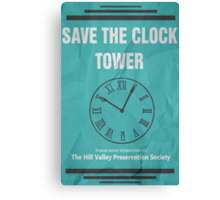 Save the Clock Tower (Back to the Future Print) Canvas Print