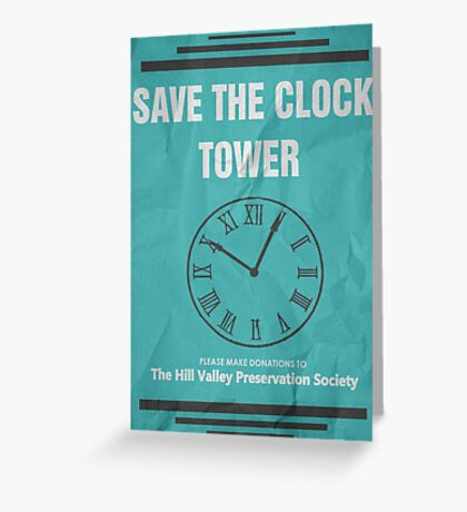 Save the Clock Tower (Back to the Future Print) Greeting Card