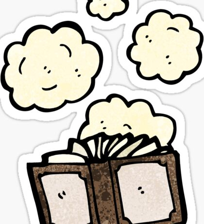dusty old book cartoon Sticker