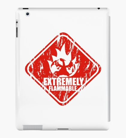 Extremely Flammable iPad Case/Skin