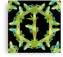 Psychedelic jungle kaleidoscope ornament 13 Canvas Print