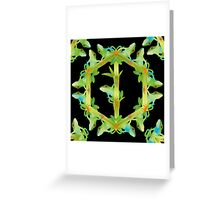 Psychedelic jungle kaleidoscope ornament 13 Greeting Card