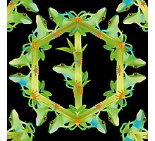 Psychedelic jungle kaleidoscope ornament 13 Photographic Print