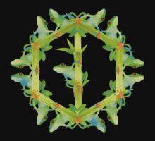 Psychedelic jungle kaleidoscope ornament 13 T-Shirt