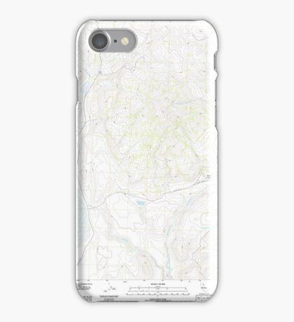 USGS TOPO Map California CA West of Snowstorm Mountain 20120305 TM geo iPhone Case/Skin