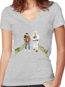 Back to the Future Women's Fitted V-Neck T-Shirt