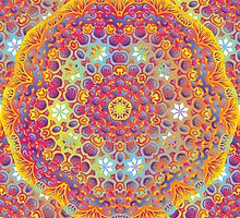Psychedelic jungle kaleidoscope ornament 15 by Andrei Verner