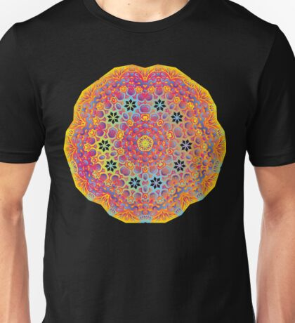 Psychedelic jungle kaleidoscope ornament 15 Unisex T-Shirt