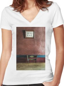 Take a Seat Women's Fitted V-Neck T-Shirt