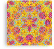 Psychedelic jungle kaleidoscope ornament 16 Canvas Print